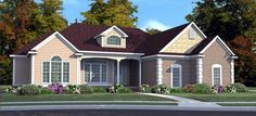 Cottage House Plan chp-29970 at COOLhouseplans.com