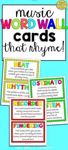 This product contains 73 music word wall cards that rhyme! Use these cards as bright and modern music classroom décor and to aid you in teaching new musical terms. Students will love saying the definitions as chants or raps and will remember musical terms with ease!