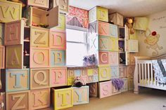 nursery with built-in storage that look like building block toys, reader upgrades reader remodel contest 2013 Built In Storage, Diy Storage, Storage Ideas, Nursery Storage, Kids Room Organization, Organizing Toys, Ideas Prácticas, Clever Diy, Toy Rooms
