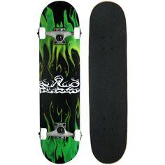 Krown Rookie Skateboard Complete Cruiser Board Deck Aluminum Truck Style Skate W #Krown