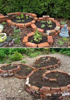 Truly Cool DIY Garden Bed and Planter Ideas Make round raised garden bed with Bricks.Make round raised garden bed with Bricks.