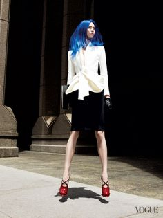 Karlie Kloss  Hair Stylist: GuidoHair Colorist: Larry RaspantiFashion Editor: Grace Coddington