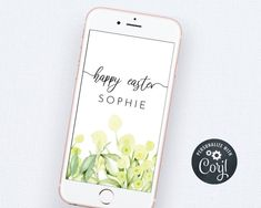 Digital Easter Greeting, Happy Easter Greeting, Easter Card | Etsy Bachelorette Party Invitations, Bridal Shower Invitations, Electronic Save The Date, Easter Templates, Happy Easter Greetings, Easter Card, Easter Celebration, Wedding Templates, Digital Invitations