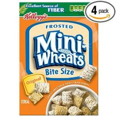 I really like mini wheats bite size and fit perfectly in my mouth!