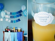 For Jackson's first birthday, his mom Tabitha of Roberts & Co. Events created a fun Pancakes and PJs blue ombre birthday brunch to celebrate. 26th Birthday, Birthday Brunch, Birthday Parties, Birthday Ideas, Blue Ombre, Orange, First Birthdays, Baby Shower, Table Decorations