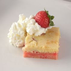 Strawberry Ooey Gooey Butter Cake by Paula Deen. Sweeeeeet, gooey, and absolutely delish.