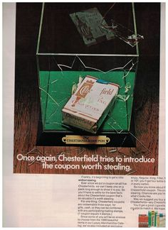 1969 Chesterfield Cigarettes Ad Featuring The Chesterfield Coupon #Chesterfield
