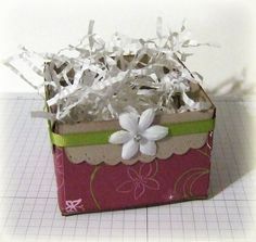 Scallop Envelope Open Box . . . Made using four scallop envelopes (die).
