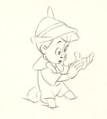 Pinocchio Production Drawing Walt Disney, 1940
