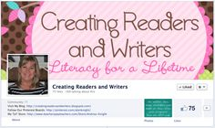 """Our Facebook Page {Creating Readers and Writers} includes many resources for teachers... and a few laughs, which are also super important!  :)  Check us out and """"Like"""" our page... we'll keep you posted on lots of good teaching tips and ideas.  LINK:  http://www.facebook.com/CreatingReadersAndWriters"""