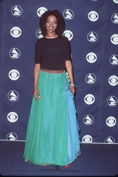 GRAMMY Style Through The Years; Simply Stunning At the 41st Annual Grammy Awards in 1999, natural beauty Lauryn Hill wore simple but pretty separates. Her tulle maxi skirt paired with a basic black top and diamond necklace stood true to her down to earth style.