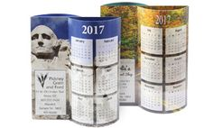 Your logo will really POP on one of these eye-catching table tent calendars.  A perfect marriage of artistic design and practicality, these innovative Wave 3D table tent calendars have a 3-dimensional pop-out, curved design that features full-color photos on both sides. Customize any of our stock designs below with your business name, company logo and office contact information and create your own unique advertising calendar. Your ad will be printed in full color.