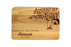 Wedding cutting board Personalized Cutting Board Custom cutting board Wedding Gift Family tree Kitchen decor Lovebirds Gift for couple