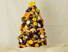 Vianočný stromček z ovocia? A prečo nie?! :)