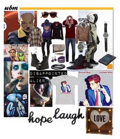 """Hope Laugh Love"" by ubm-store ❤ liked on Polyvore featuring Commando, Magda Butrym, Dr. Martens, Louis Vuitton, Maison Margiela, Bobeau, Phillip Gavriel, WithChic, Swarovski and Plukka"