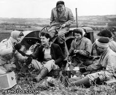 Tea-time in the fields of Essex during the Second World War, where Land Girls have brought more acres under cultivation.