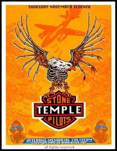 1996 Stone Temple Pilots Silkscreen Concert Poster by Emek