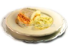 Merluza rellena con ajoarriero de centollo y patatas asadas - Diabetes