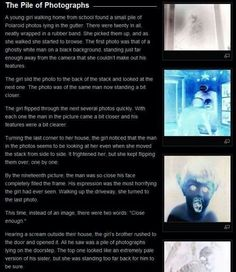 Horror/creepy short stories — Creepypasta picture-story Pile of Photographs Short Creepy Stories, Short Horror Stories, Ghost Stories, Spooky Stories, Que Horror, Creepy Horror, Scream, Campfire Stories, Picture Story