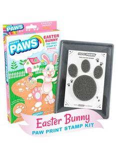 EASTER BUNNY PAW PRINT STAMP KIT. Your kit includes everything you need to create realistic Easter Bunny paw prints!