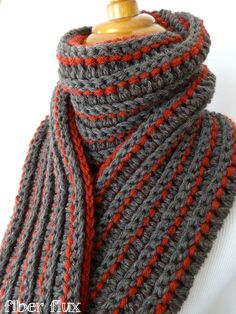 The Every Man Scarf, free crochet pattern from Fiber Flux