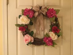Hydrangea and Rose Wreath