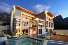 Cape Town, Western Cape, South Africa Luxury Real Estate - Homes for Sale Camps Bay Cape Town, Cape Town Accommodation, Between The Oceans, Beautiful Villas, Mountain View, Mountain Range, Luxury Villa, Outdoor Entertaining, Beautiful Bedrooms
