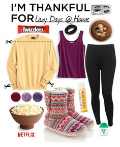 """""""Lazy Days @ Home"""" by jazzola-19 ❤ liked on Polyvore featuring Forever 21, M&Co, Scandia Woods, Accessorize, Deborah Lippmann, Chiara Ferragni and imthankfulfor"""