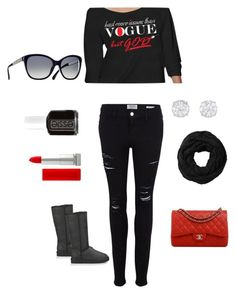 BUT GOD! by uniquewalker on Polyvore featuring polyvore, fashion, style, Frame Denim, UGG Australia, Chanel, Maybelline, Essie and Subtle Luxury
