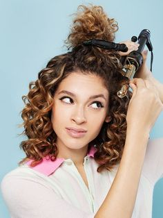 Bored With Your Hair? Try One Of These Cool Styles #refinery29  http://www.refinery29.com/how-to-style-curly-hair