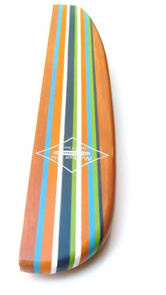 Surfboard Shelf Classic Stripe Longboard by MarkerSix on Etsy