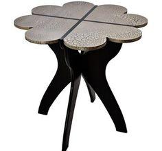 Bamboo Heart Hall Table