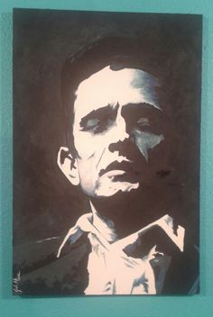 Johnny Cash. Original art by Jodi Hess