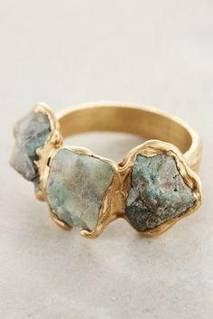 Emilie Shapiro Maneto Emerald Ring #anthrofave