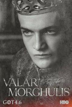 S04 poster / Valar Morghulis / king Joffrey Lannister