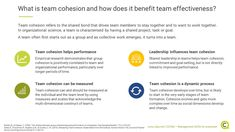 Team cohesion is positively linked to organizational performance. How can it be fostered and nurtured, and how does it differ from group cohesion?