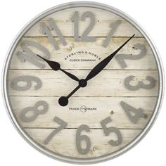 Buy Better Homes & Gardens Farmhouse Plank with Galvanized Finish Wall Clock Farmhouse Wall Clocks, Country Farmhouse Decor, Farmhouse Style, Rustic Decor, Modern Farmhouse, Farmhouse Mantel, Cottage Farmhouse, White Farmhouse, French Cottage