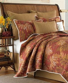 CLOSEOUT! Tommy Bahama Home Orange Cay Quilts