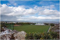 St. Mary's Maudlintown Gaelic Football Club, pitch and clubhouse, Trespan Rocks, Wexford. Best view of a GAA club in the country!. By Ger Dwyer