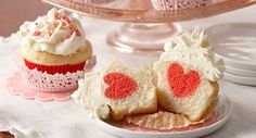 Surprise Raspberry Heart Cupcakes | McCormick | Debbie Wahl Food Styling