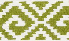 Fillmore Tape   70602 in Leaf   Schumacher Trims   A wide linen tape with an ikat-like pattern that imparts a dash of boho chic.