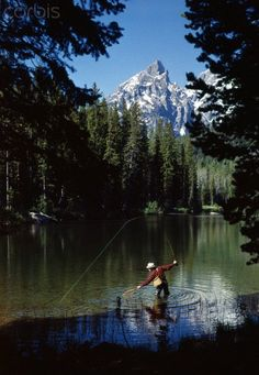 Fishing. Grand Teton National Park. Wyoming. One of my favorite places in the world. My daddy grew up here. Spent so many summers in the Tetons. Hubby and I go there often camping and fishing.