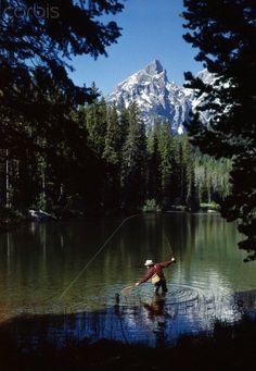 Fishing. Grand Teton National Park. Wyoming  #rock #climb #trek #hike #travel