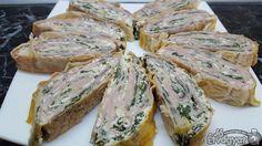 Sonkás rétes Spanakopita, Sandwiches, Ethnic Recipes, Food, Essen, Meals, Paninis, Yemek, Eten