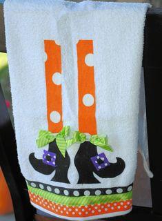 halloween tea towel picture