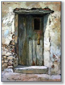 Watercolours of doors, windows . Cool Doors, Unique Doors, Rustic Doors, Door Knockers, Doorway, Windows And Doors, Painting Inspiration, Watercolor Paintings, Watercolours