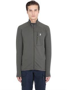 PEAK PERFORMANCE WAITARA WAITARA MID LAYER JACKET, BLACK/OLIVE. #peakperformance #cloth #sweatshirts