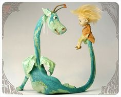 Sit a Spell - Dragon Sculpture by theFiligree, Celena & Martin, via Flickr