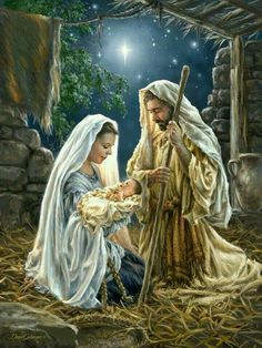 ⭐️✨ Jesus was Born on Christmas ✨⭐️ Jesus was born on Christmas, on a very holy night, and in the sky above Him, shone the very brightest light. Christmas Scenes, Christmas Nativity, Christmas Pictures, Christmas Cards, The Nativity, Decorations Christmas, Merry Christmas, Nativity Scenes, Christmas Quotes