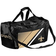 New Orleans Saints Border Stripe Duffel Bag - $29.99